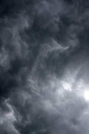 non urban scene: Overcast sky with rain clouds Stock Photo