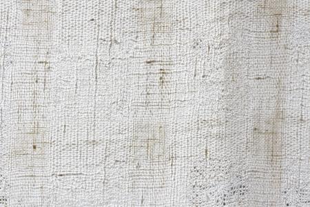 白い天然リネン キャンバスのテクスチャ 写真素材