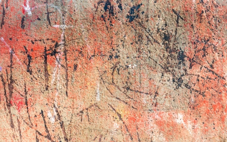 peeled off: Rusty metal surface with peeled off paint Stock Photo