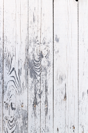 Weathered white wooden wall texture photo