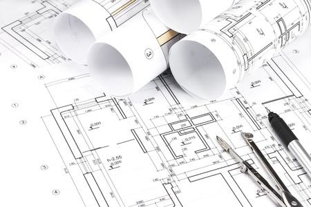Blueprint floor plans with drawing tools