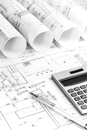 architecture plans: Rolls of architectural house plans