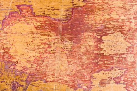 Yellow scratched metal texture background photo