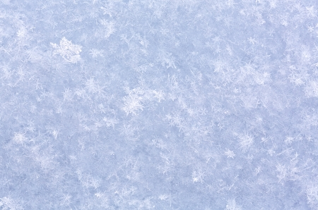 White snow texture with crystals photo