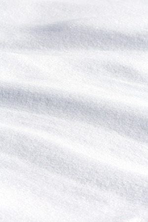 Wavy surface of pure white snow