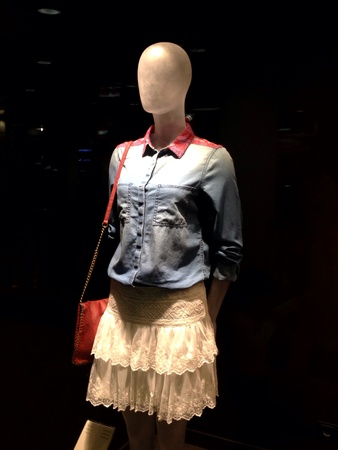 garment: Mannequin in fashion store