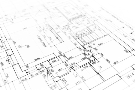 House building construction plan as Blueprints series