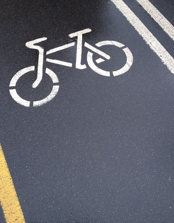 bicycle lane: Wet bicycle lane