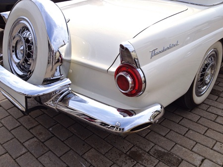 chrome: Oldtimer in Classic style Stock Photo