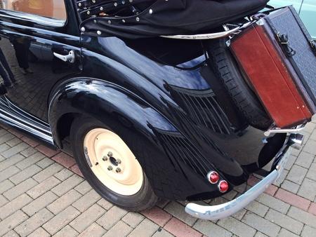 chrome: Old vintage Classic car Stock Photo