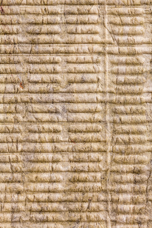 Closeup view of insulation stone wool texture background photo