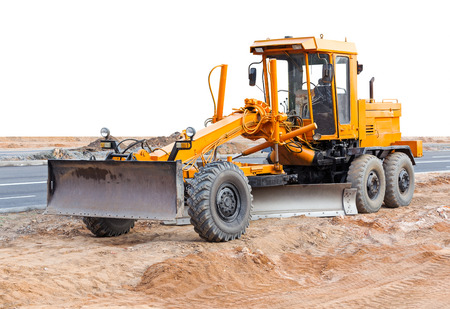 earth moving: Road grader - heavy earth moving road construction equipment