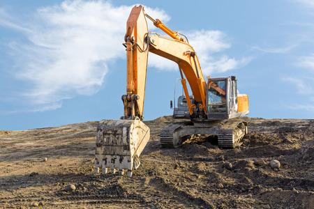 Heavy duty construction equipment parked at work site Reklamní fotografie
