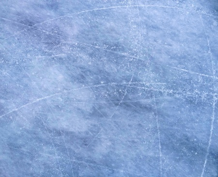 Ice background with marks from skating or hockey Stock Photo