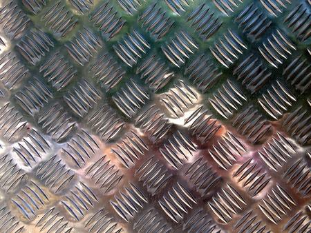 shiny metal: Diamond plate with reflections