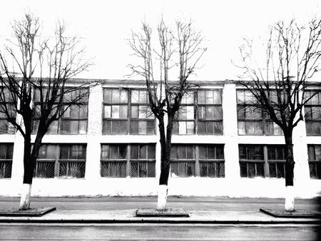 industrial: Old industrial building exterior