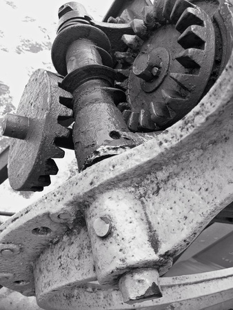 industrial: Old rusty gears