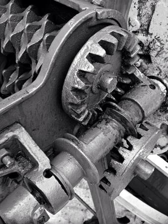 industrieel: Toestellen van oud mechanisme Stockfoto
