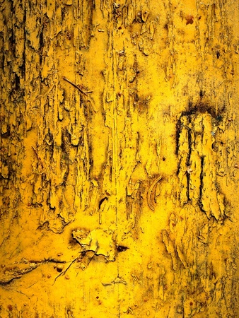 Painted yellow wooden planks