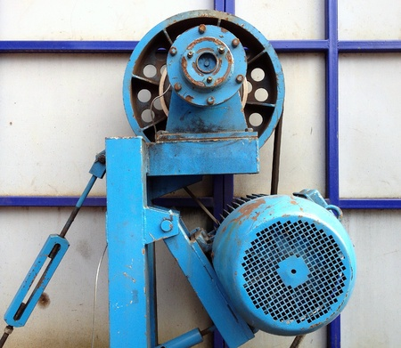 industrial: Powerful electric motor. Industrial equipment.