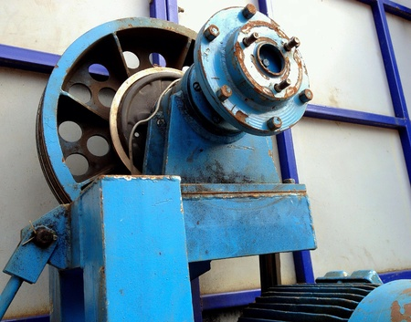 industry: Electric motor with a pulley