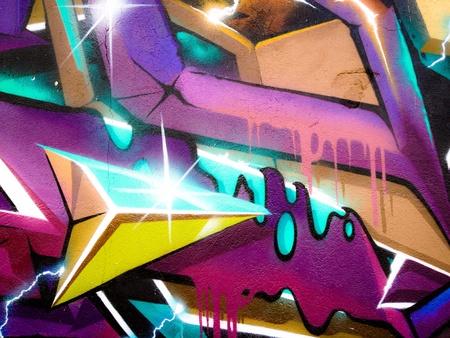 detail: Abstract graffiti on a wall