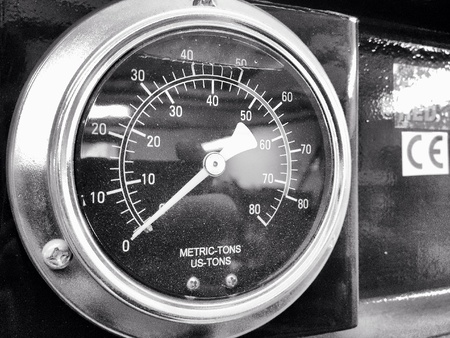 industrial: Pressure gauge of hydraulic press