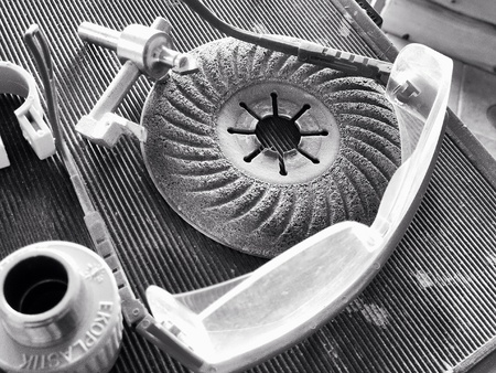 industrieel: Abrasive disk with protective eyewear