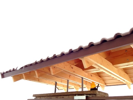 construction: Wooden truss on a residential construction