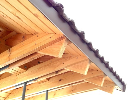 rafters: New wooden roof rafters
