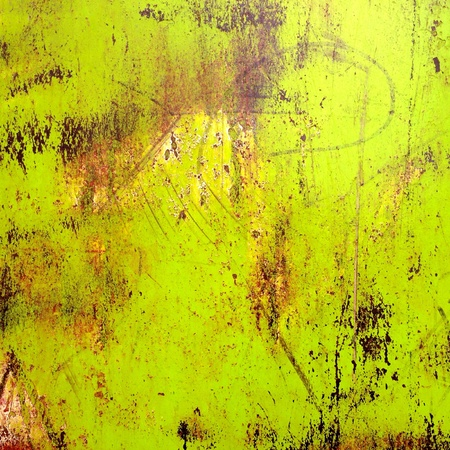 metal: Old yellow painted metal wall texture Stock Photo