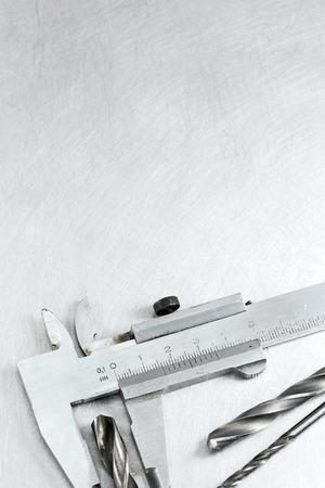 vernier caliper: Stainless steel vernier caliper measure diameter of drill bits