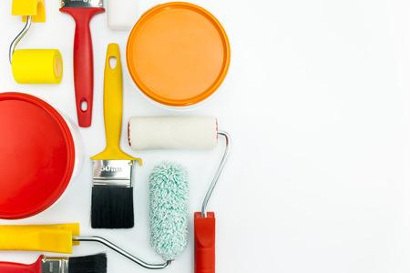 work tools: diversas herramientas de pintura y accesorios para rehabilitaci�n de viviendas