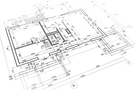 part of architectural project engineering and architecture drawings