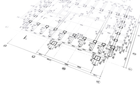 construction project: engineering blueprints construction plan part of architectural project