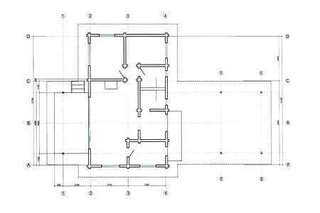 바닥 계획은 엔지니어링 및 건축 도면 청사진