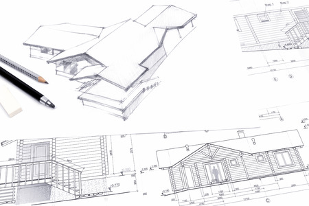 home renovation: architectural sketch drawings for new home renovation