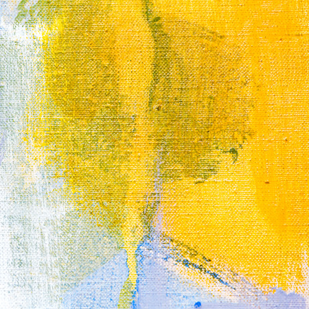 yellow paint: abstract acrylic hand painted canvas textured background