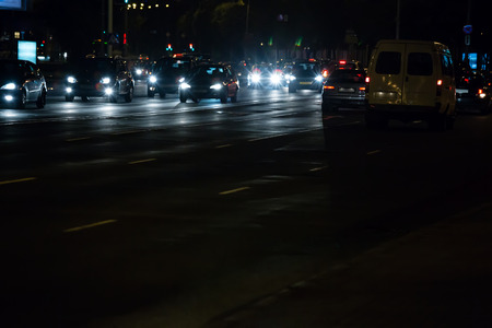 traffic jams: Evening traffic jams in the city. Rush hour.