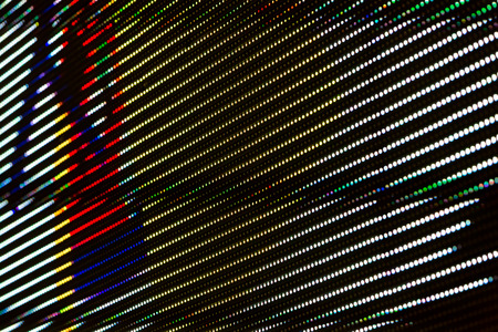 the light emitting: RGB Light Emitting Diodes screen panel background closeup
