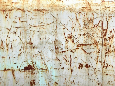 metallic: Rusted and scratched sheet metal texture