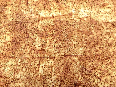 Rusted and scratched sheet metal texture background