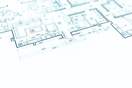 projet architectural, plan architectural, plan de construction, fond architectural