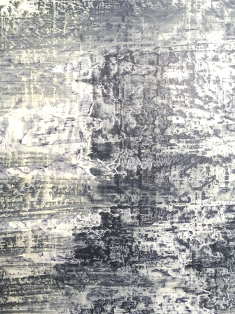 mixed wallpaper: abstract hand painted gray canvas with grunge texture Stock Photo