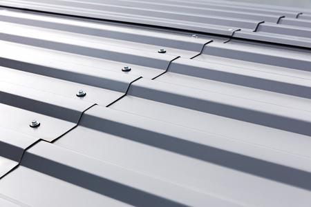 gray corrugated metal cladding on industrial building roof 版權商用圖片 - 62787673