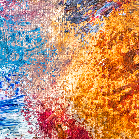 multicolored vibrant paint splashes on canvas background
