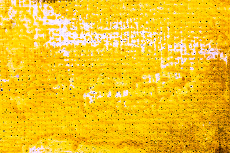 vibrant yellow artistic hand painted oil paint canvas for texture background