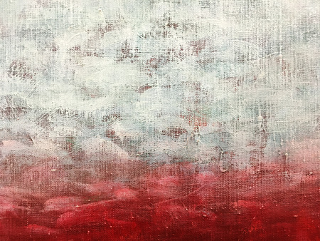 vibrant artistic background. hand painted canvas in red and white colors.