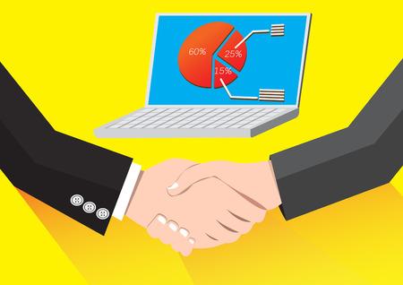 stock agency: Businessman handshaking Business Deal Succes Business Partnership