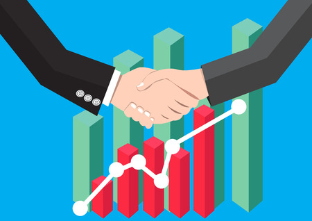 agency agreement: businessman handshaking. Business Deal. Business Collaboration. Business Partnership Graph